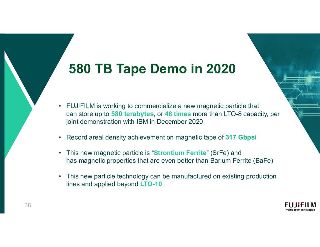 580 TB Tape Demo in 2020 • FUJIFILM is working ...