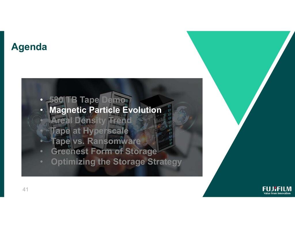 Agenda • 580 TB Tape Demo • Magnetic Particle E...