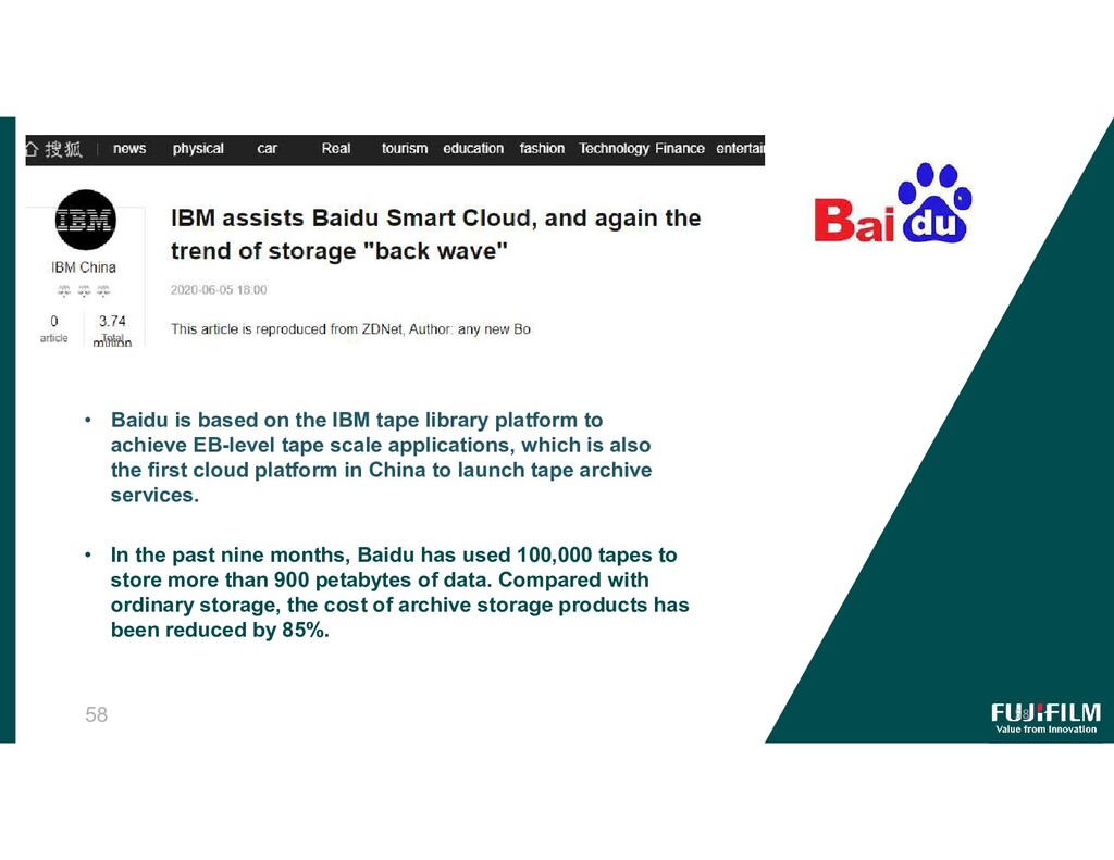 58 • In the past nine months, Baidu has used 10...