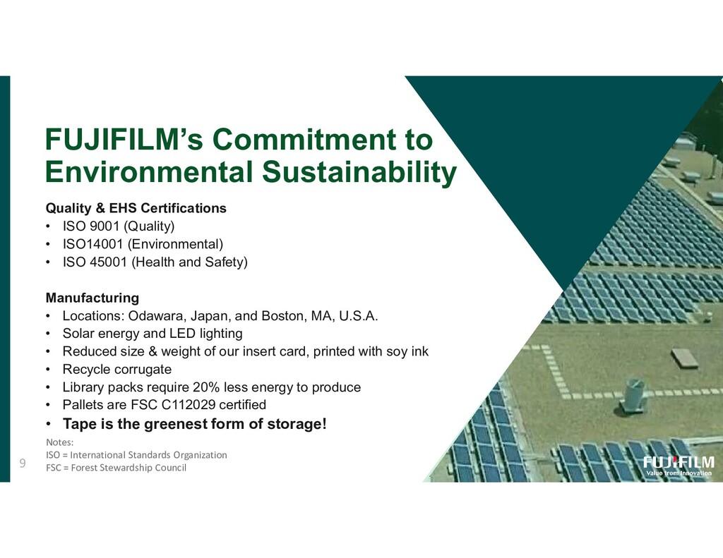 FUJIFILM's Commitment to Environmental Sustaina...