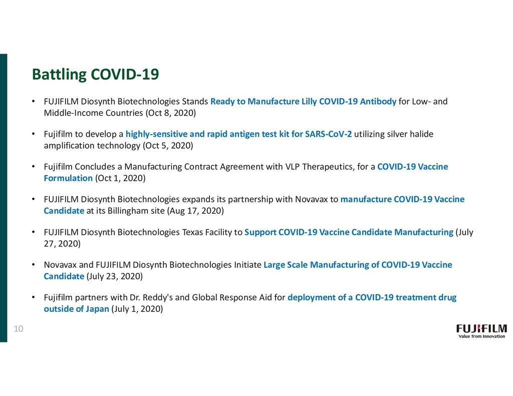 Battling COVID-19 10 • FUJIFILM Diosynth Biotec...