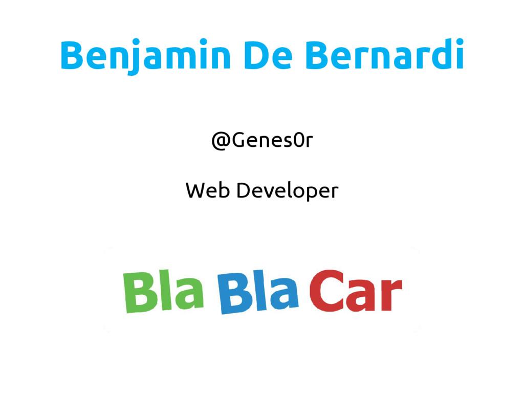 @Genes0r Web Developer Benjamin De Bernardi