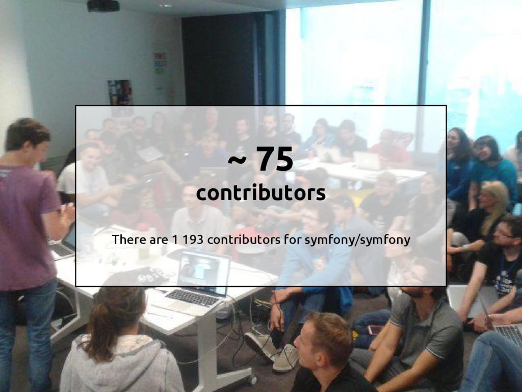 ~ 75 contributors There are 1 193 contributors ...