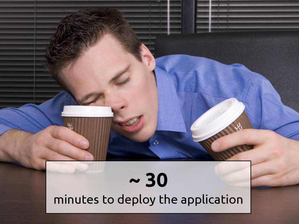 ~ 30 minutes to deploy the application