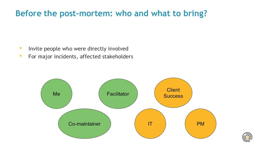Before the post-mortem: who and what to bring? ...
