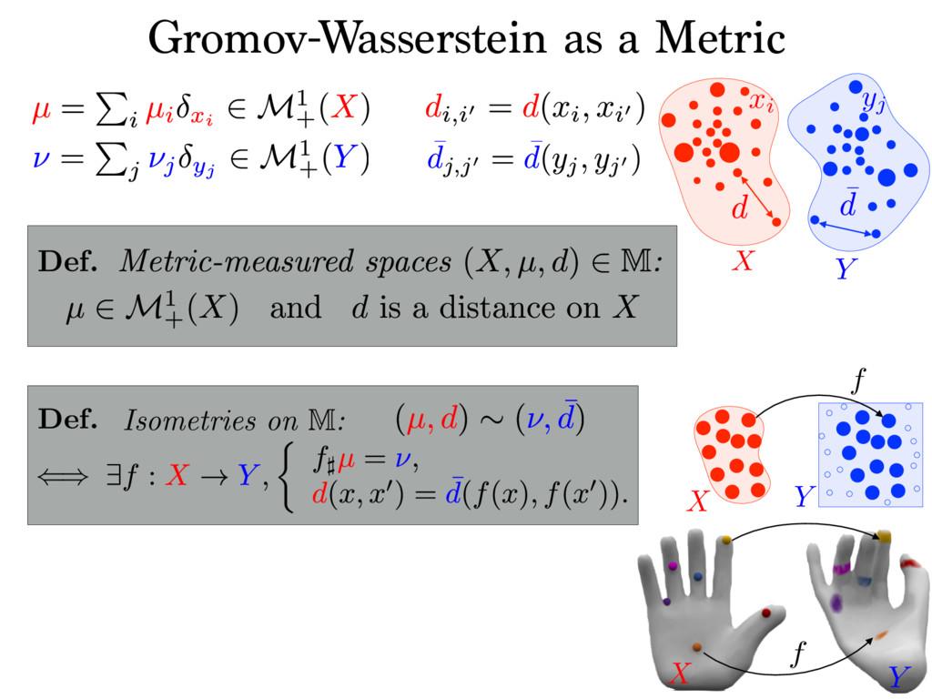 Y xi X Gromov-Wasserstein as a Metric yj X Y f ...