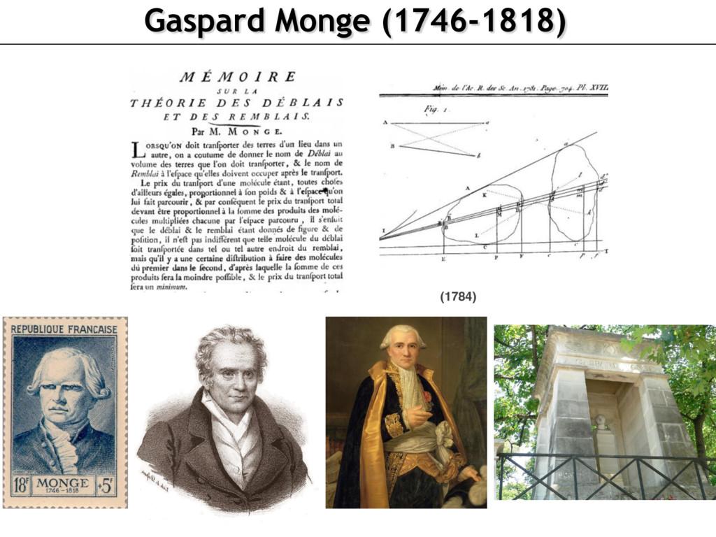 Gaspard Monge (1746-1818) (1784)
