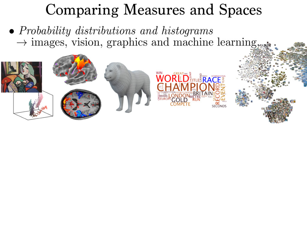 Comparing Measures and Spaces Source image (X) ...
