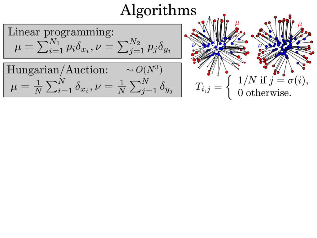 Linear programming: µ = PN1 i=1 pi xi , ⌫ = PN2...