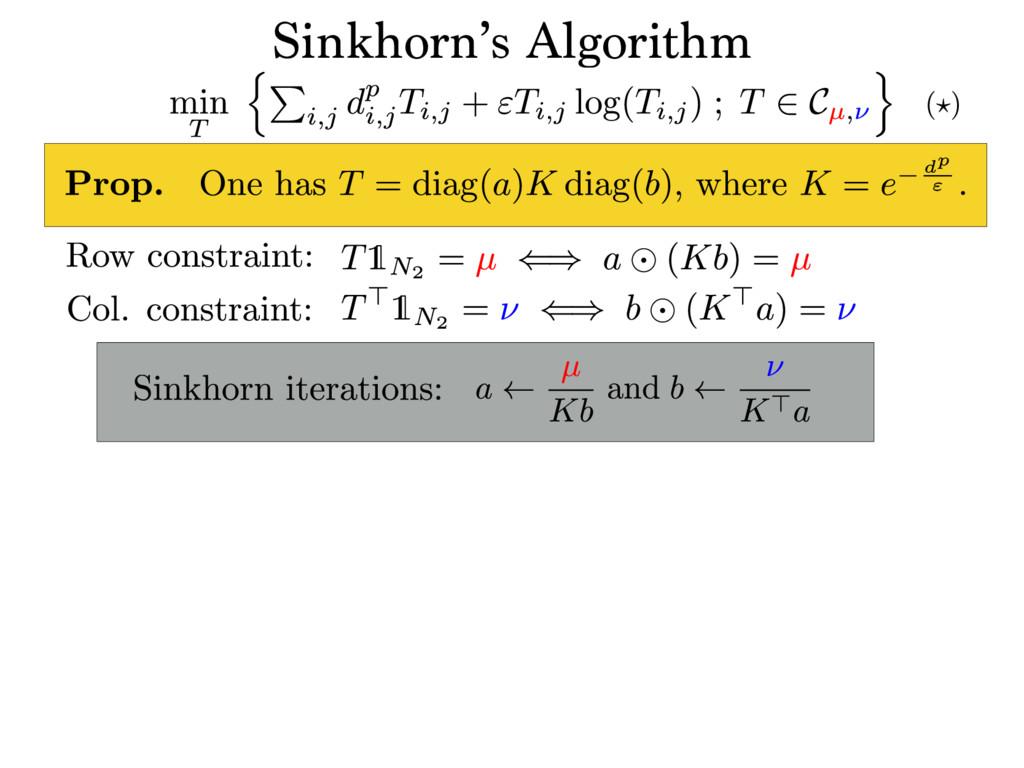 Sinkhorn's Algorithm