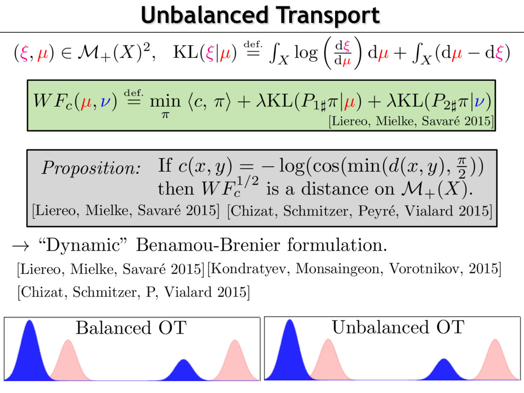 "Unbalanced Transport ! ""Dynamic"" Benamou-Brenie..."