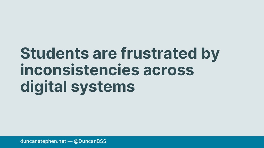 Students are frustrated by inconsistencies acro...