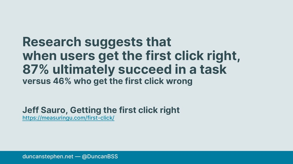 Research suggests that when users get the first...