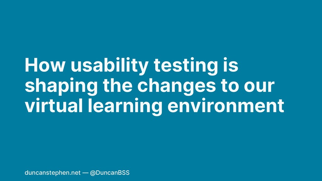 How usability testing is shaping the changes to...