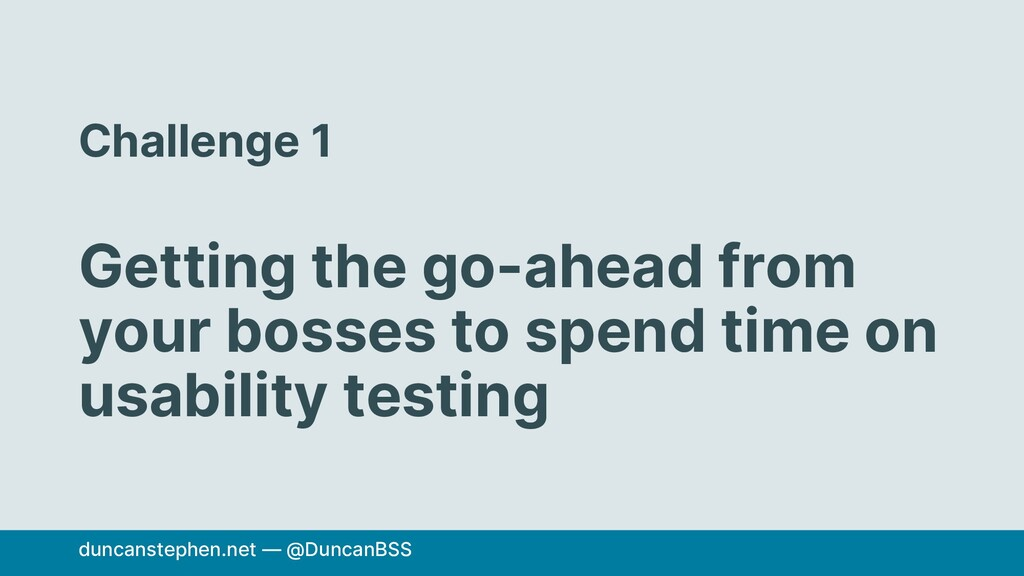 Challenge 1 Getting the go-ahead from your boss...