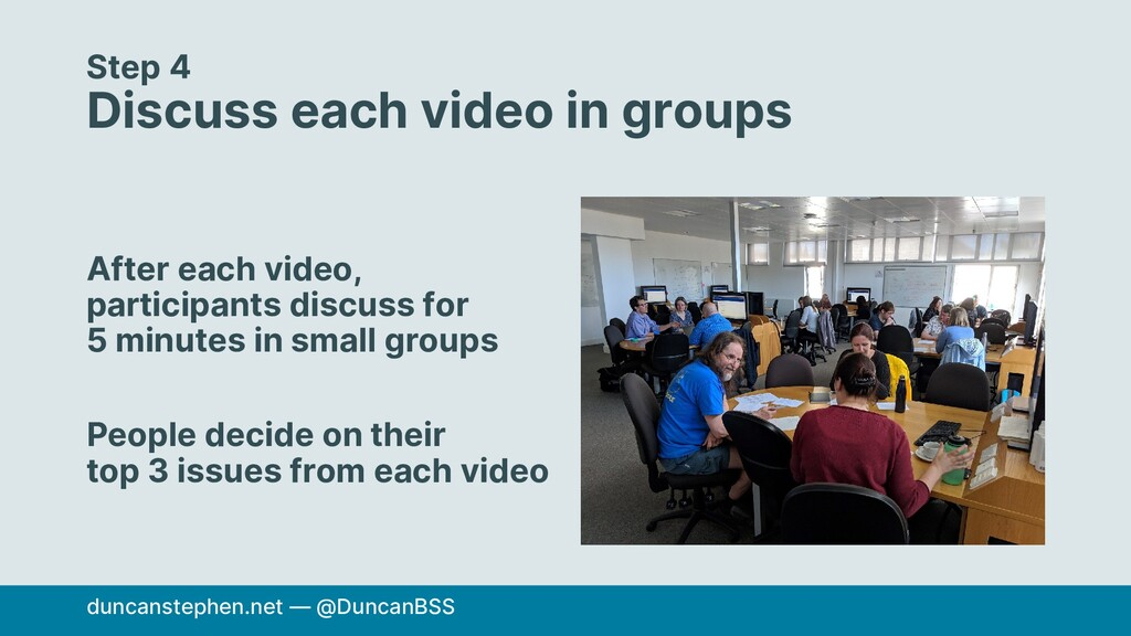 Step 4 Discuss each video in groups After each ...
