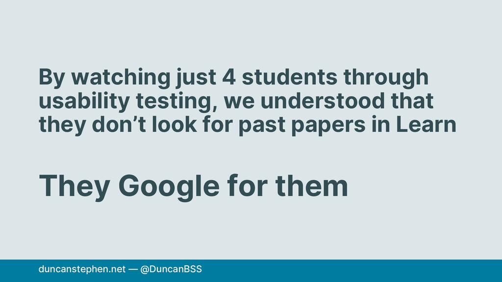 By watching just 4 students through usability t...