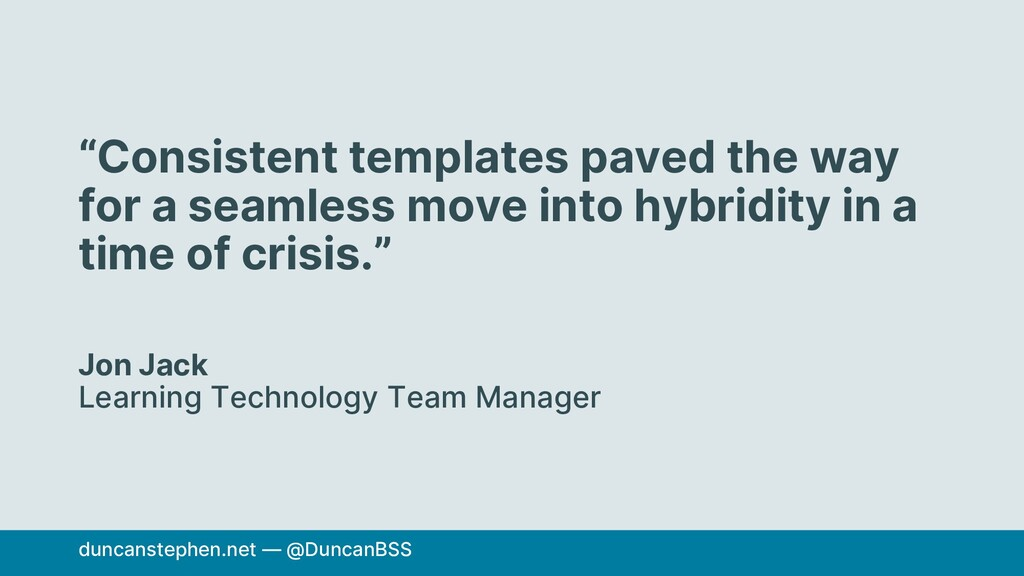 """""""Consistent templates paved the way for a seaml..."""