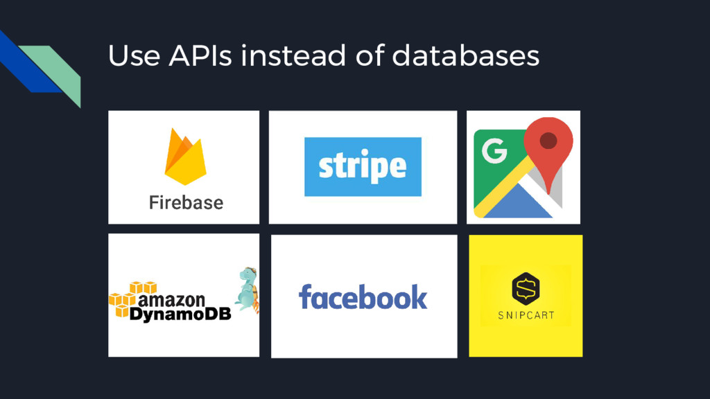 Use APIs instead of databases