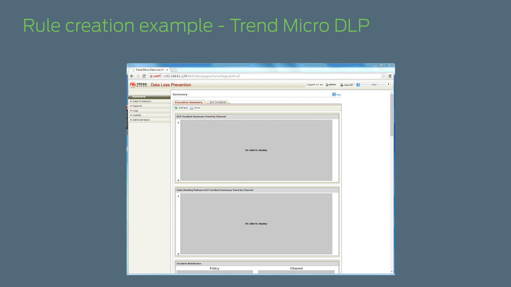 Rule creation example - Trend Micro DLP