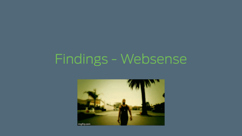Findings - Websense