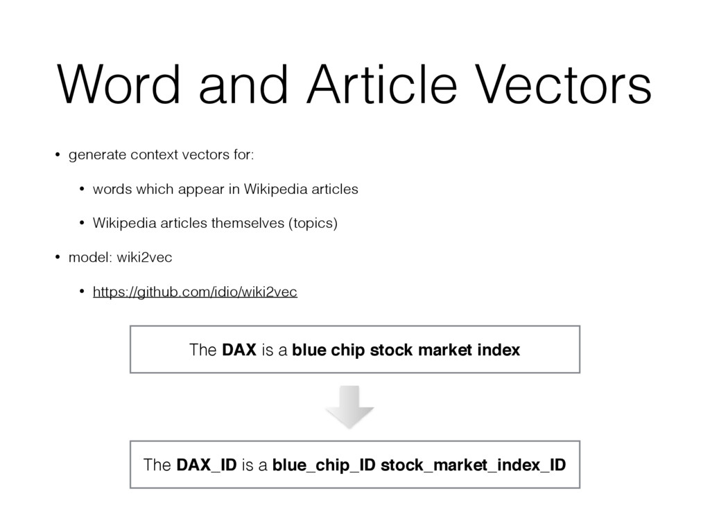 Word and Article Vectors • generate context vec...