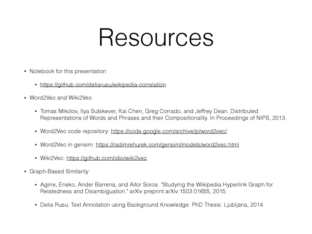 Resources • Notebook for this presentation • ht...
