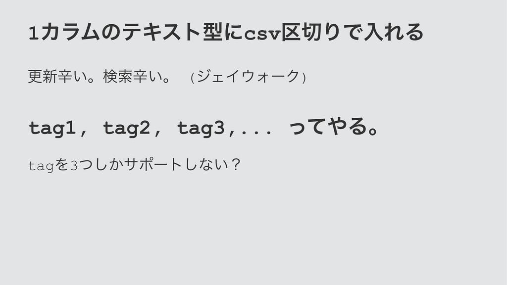 1ΧϥϜͷςΩετܕʹcsv۠ΓͰೖΕΔ ߋ৽ਏ͍ɻݕࡧਏ͍ɻ (δΣΠΥʔΫ) tag1...