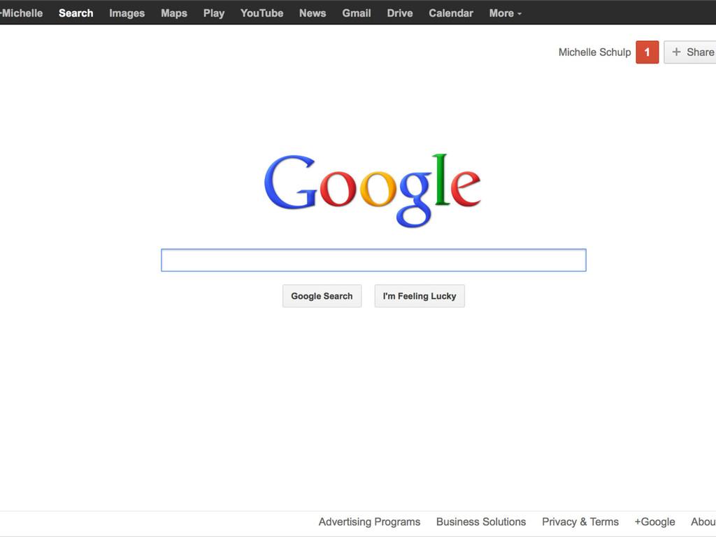 • Example #4 Google