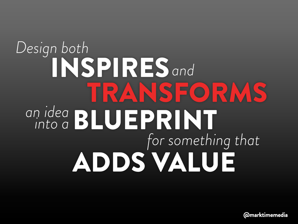Design both TRANSFORMS INSPIRES BLUEPRINT and a...