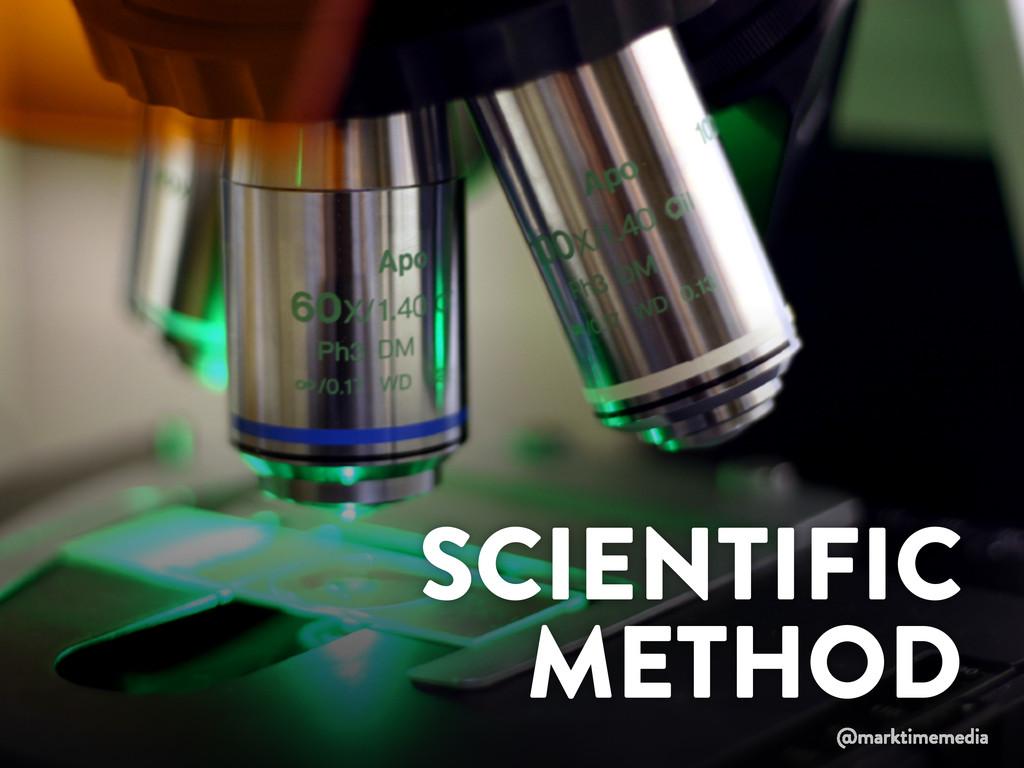 SCIENTIFIC METHOD @marktimemedia
