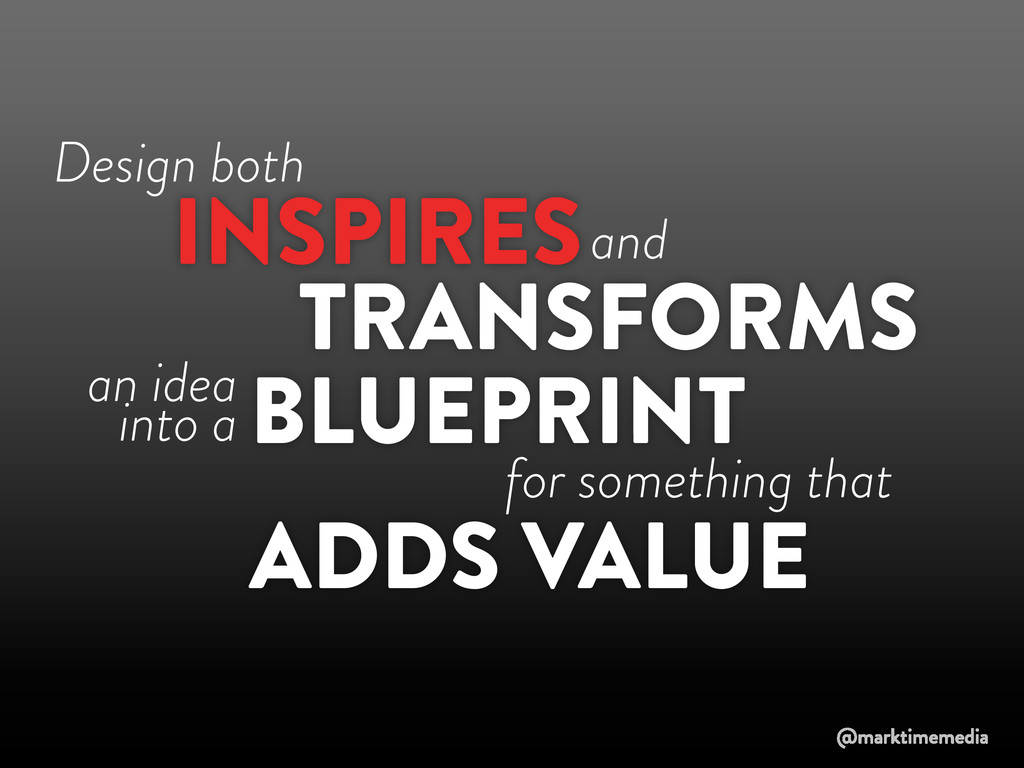 Design both TRANSFORMS INSPIRES BLUEPRINT and a...