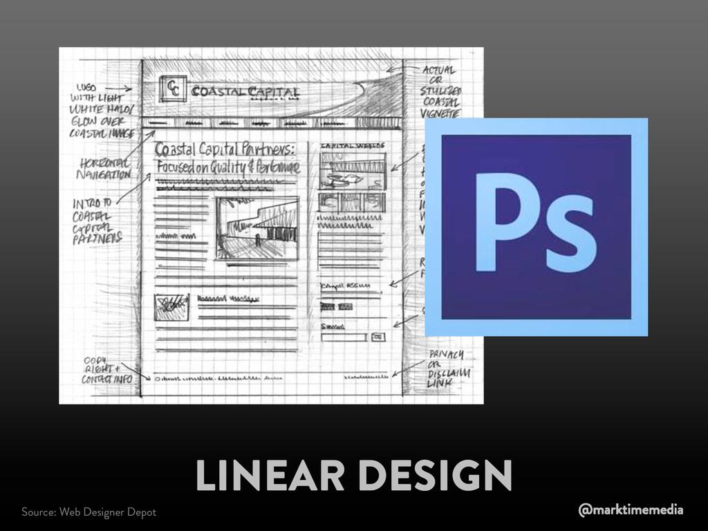 Source: Web Designer Depot LINEAR DESIGN @markt...