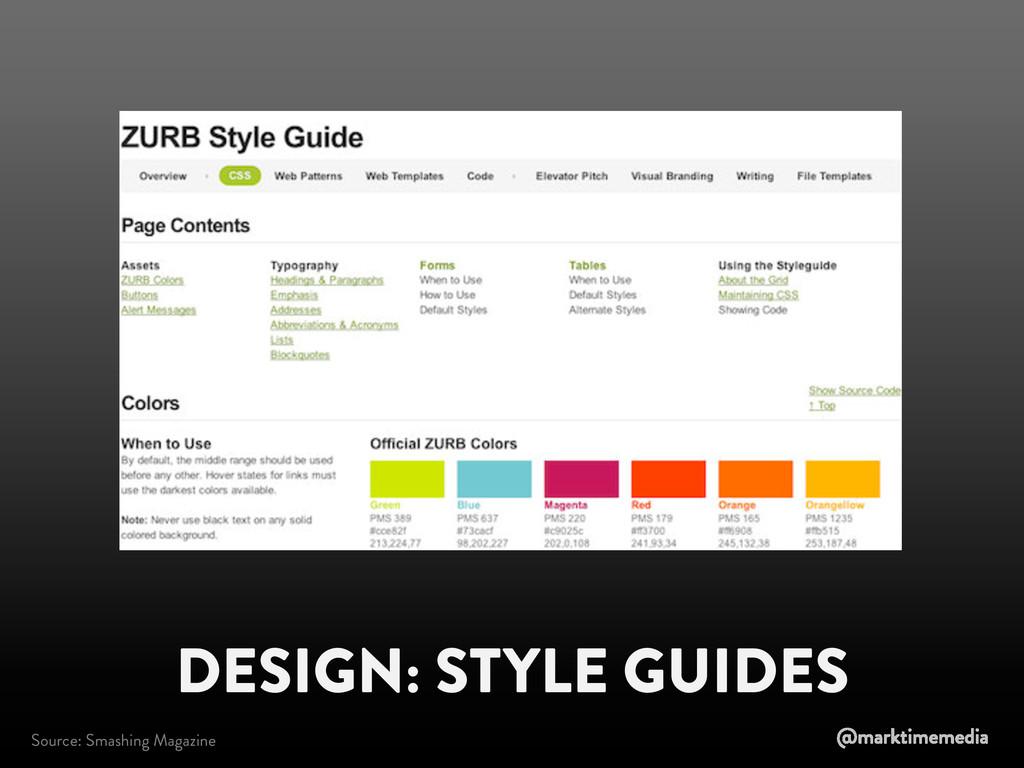 DESIGN: STYLE GUIDES Source: Smashing Magazine ...