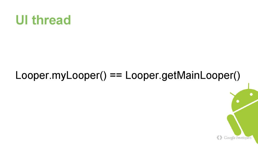 UI thread Looper.myLooper() == Looper.getMainLo...