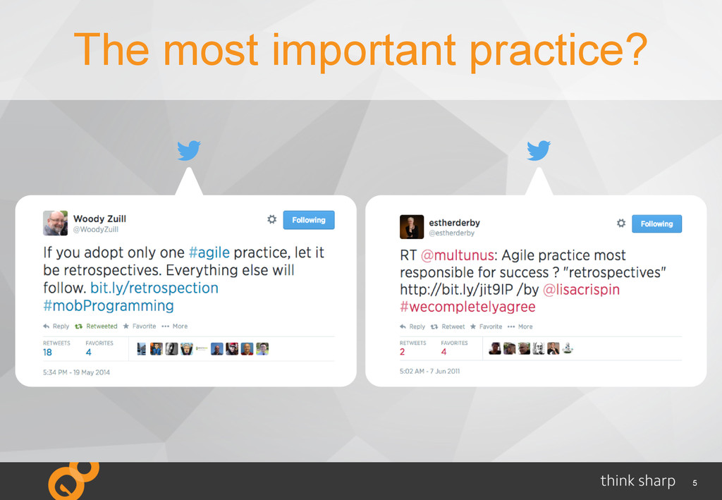 5 The most important practice?
