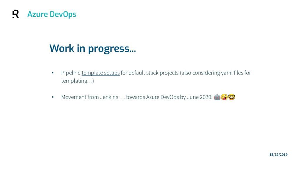Azure DevOps ▪ Pipeline template setups for def...