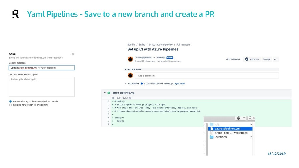 Yaml Pipelines - Save to a new branch and creat...