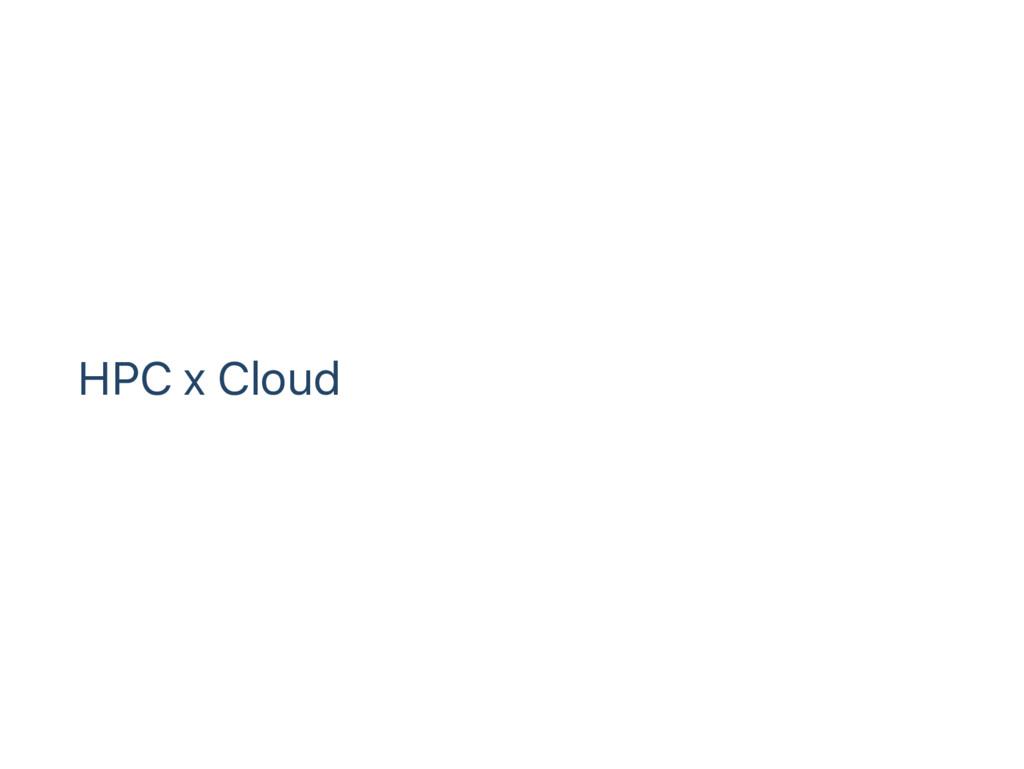HPC x Cloud