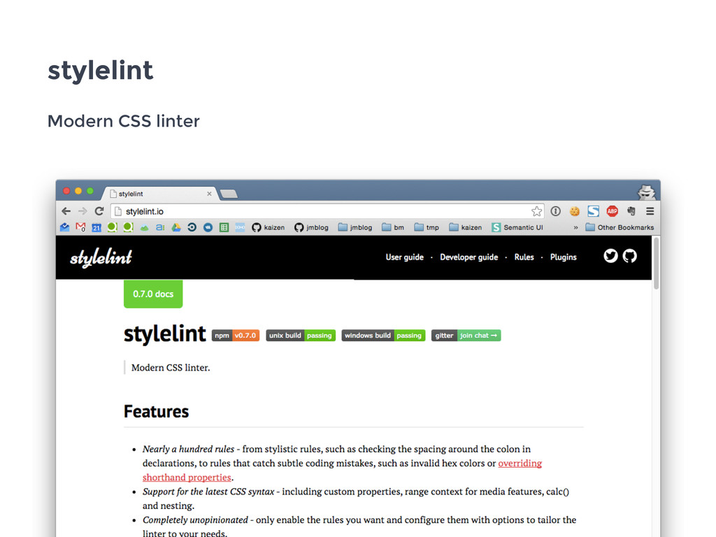 stylelint Modern CSS linter
