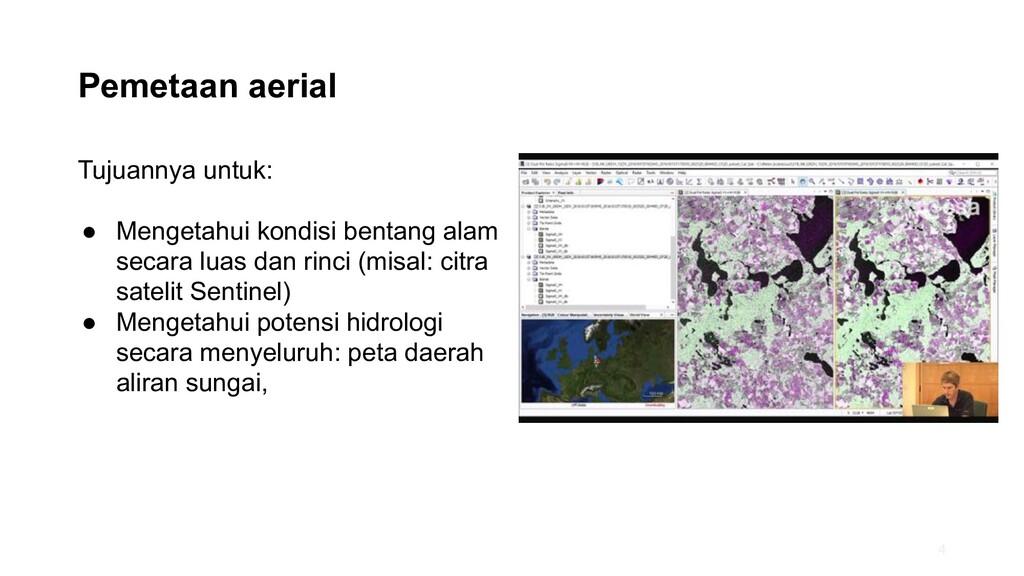 Pemetaan aerial Tujuannya untuk: ● Mengetahui k...