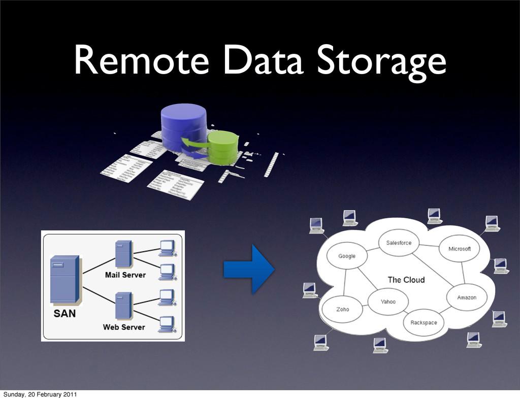 Remote Data Storage Sunday, 20 February 2011