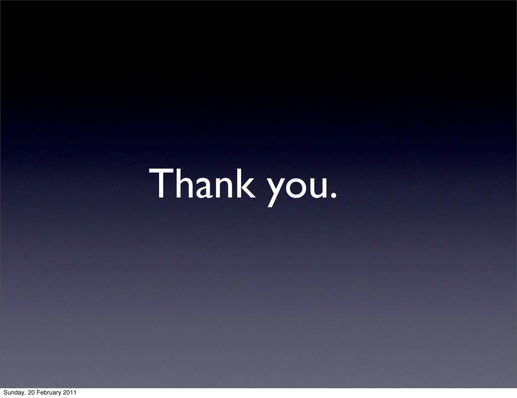 Thank you. Sunday, 20 February 2011