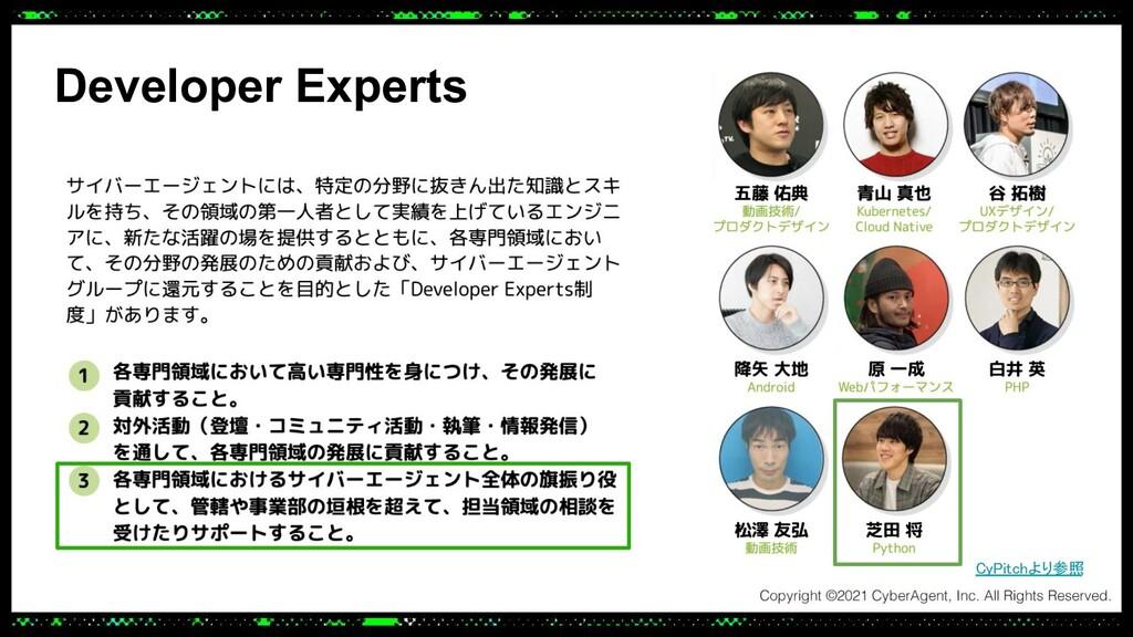 Developer Experts CyPitchより参照