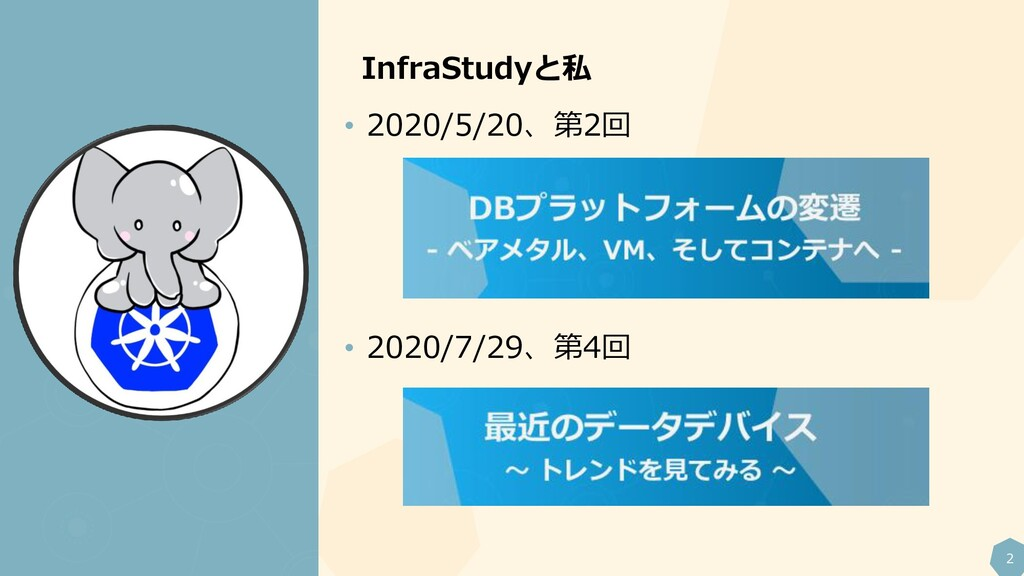 2 InfraStudyと私 • 2020/5/20、第2回 • 2020/7/29、第4回