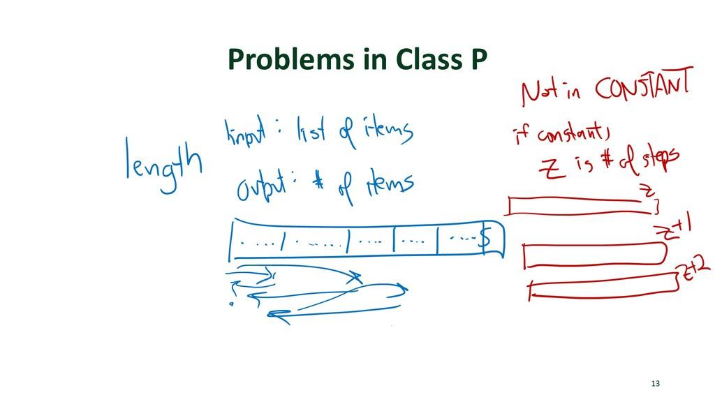 Problems in Class P 13