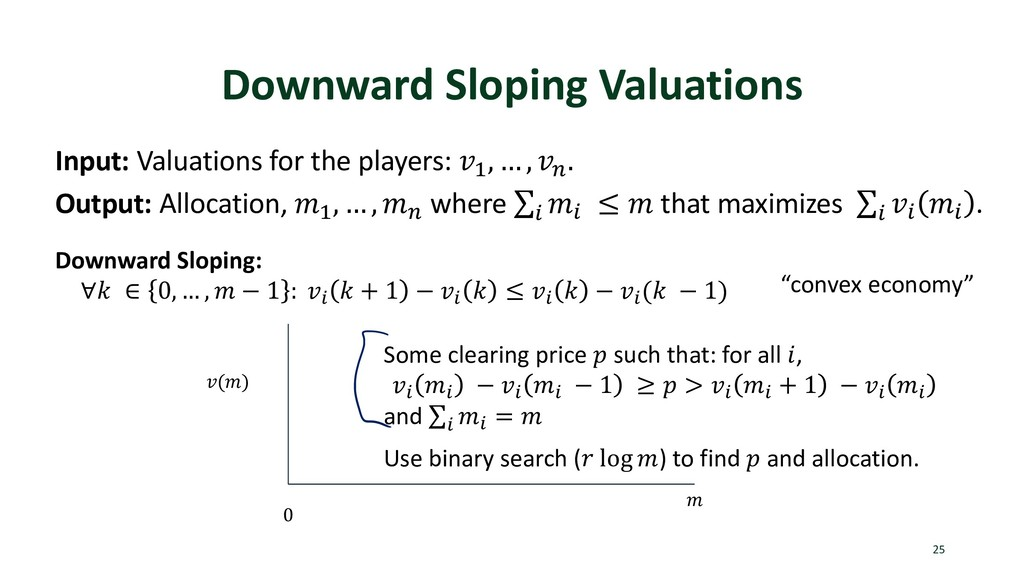 Downward Sloping Valuations 25 Input: Valuation...