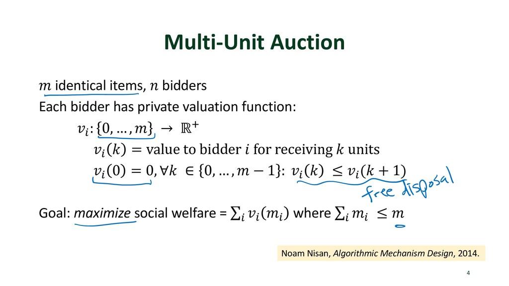 "Multi-Unit Auction ! identical items, "" bidders..."
