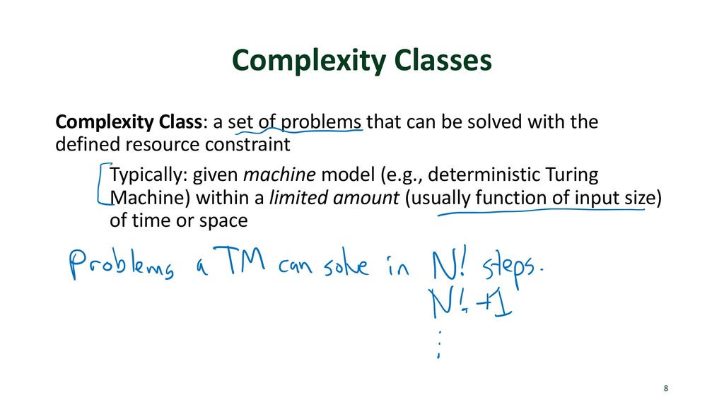 Complexity Classes Complexity Class: a set of p...
