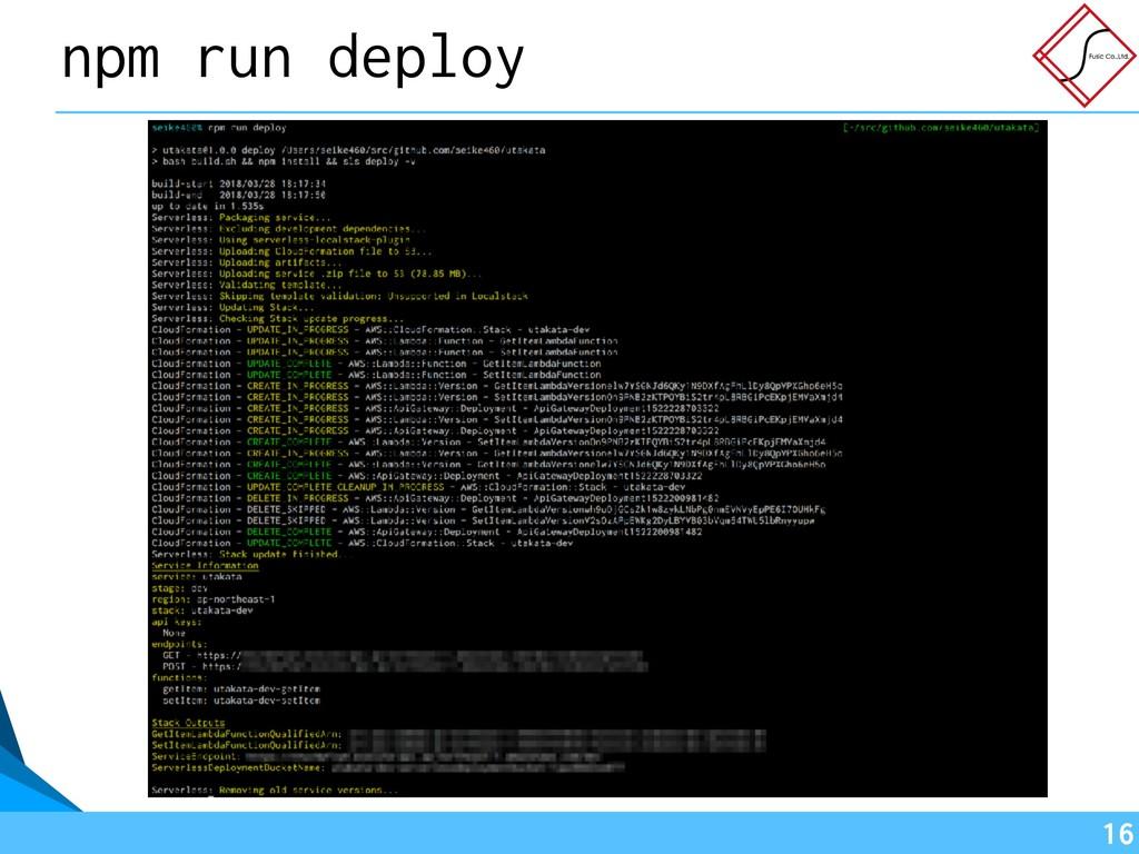 !16 npm run deploy